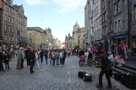 Performing on the Royal Mile