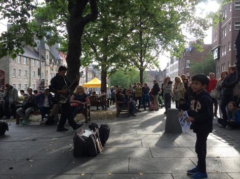 Performing at Grassmarket